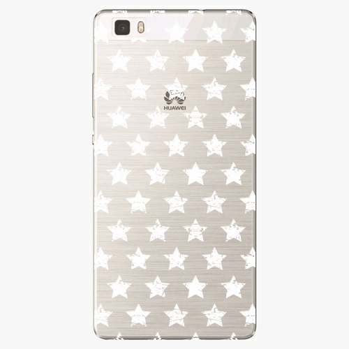 Silikonové pouzdro iSaprio - Stars Pattern white na mobil Huawei P8 Lite