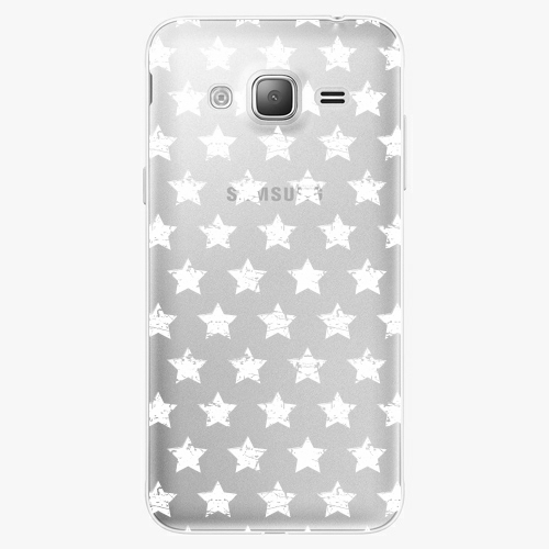 Silikonové pouzdro iSaprio - Stars Pattern white na mobil Samsung Galaxy J3 2016