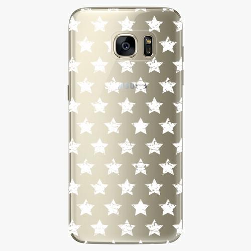 Silikonové pouzdro iSaprio - Stars Pattern white na mobil Samsung Galaxy S7 Edge