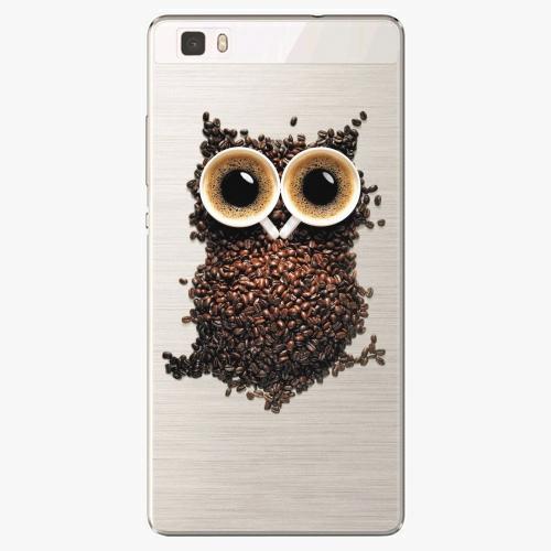 Silikonové pouzdro iSaprio - Owl And Coffee na mobil Huawei P8 Lite