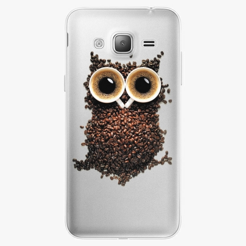Silikonové pouzdro iSaprio - Owl And Coffee na mobil Samsung Galaxy J3 2016