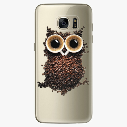Silikonové pouzdro iSaprio - Owl And Coffee na mobil Samsung Galaxy S7 Edge