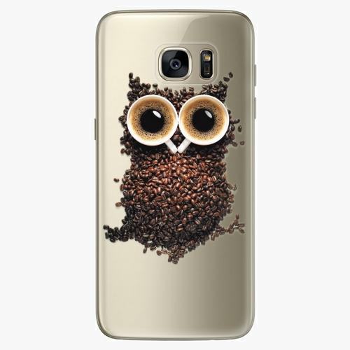 Silikonové pouzdro iSaprio - Owl And Coffee na mobil Samsung Galaxy S7