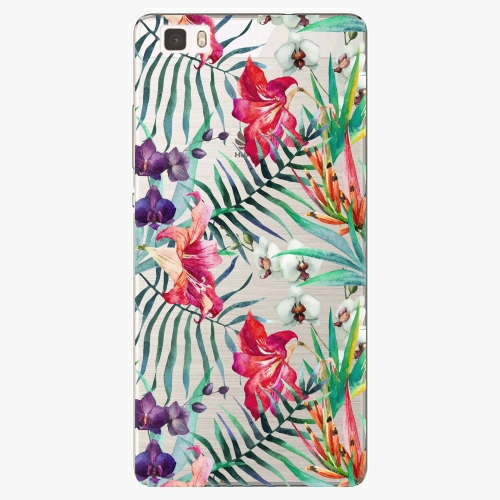 Silikonové pouzdro iSaprio - Flower Pattern 03 na mobil Huawei P8 Lite