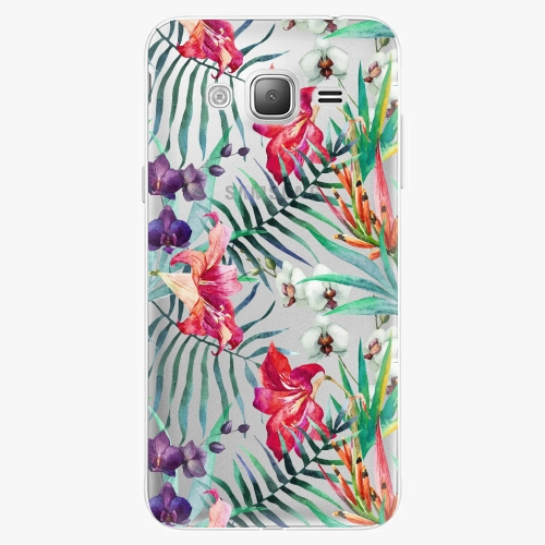 Silikonové pouzdro iSaprio - Flower Pattern 03 na mobil Samsung Galaxy J3 2016