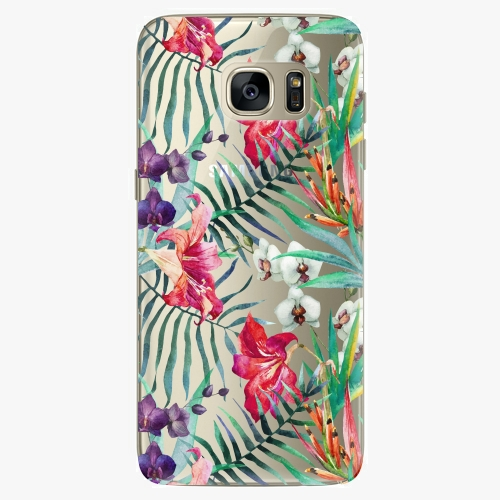 Silikonové pouzdro iSaprio - Flower Pattern 03 na mobil Samsung Galaxy S7
