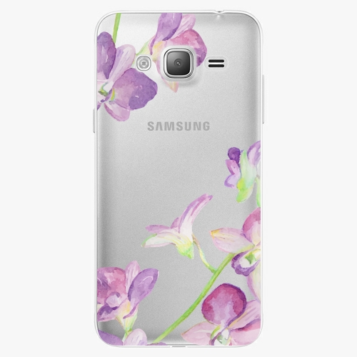 Silikonové pouzdro iSaprio - Purple Orchid na mobil Samsung Galaxy J3 2016