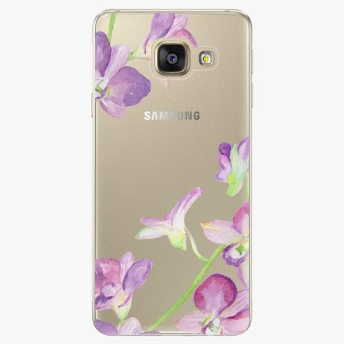 Silikonové pouzdro iSaprio - Purple Orchid na mobil Samsung Galaxy A5 2016