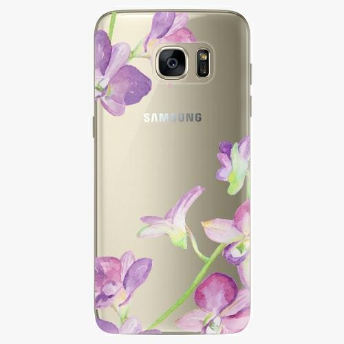 Silikonové pouzdro iSaprio - Purple Orchid na mobil Samsung Galaxy S7 Edge (Silikonový obal, pouzdro, kryt iSaprio s motivem Purple Orchid na mobilní telefon Samsung Galaxy S7 Edge)
