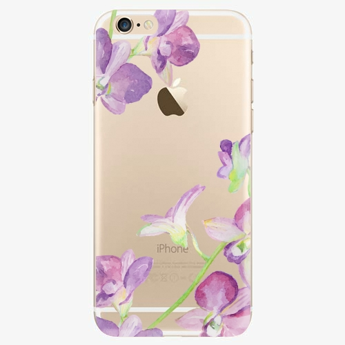 Silikonové pouzdro iSaprio - Purple Orchid na mobil Apple iPhone 6/ 6S