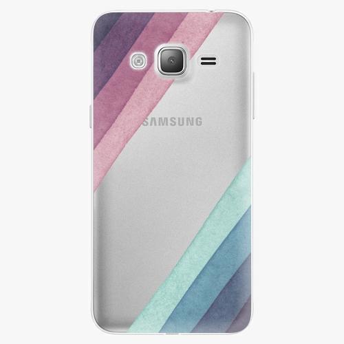 Silikonové pouzdro iSaprio - Glitter Stripes 01 na mobil Samsung Galaxy J3 2016