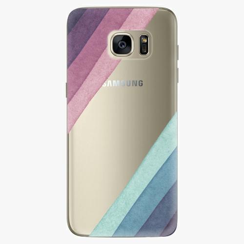 Silikonové pouzdro iSaprio - Glitter Stripes 01 na mobil Samsung Galaxy S7 Edge