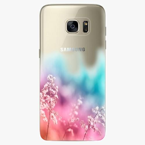 Silikonové pouzdro iSaprio - Rainbow Grass na mobil Samsung Galaxy S7 Edge