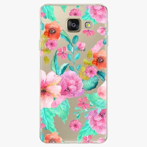 Silikonové pouzdro iSaprio - Flower Pattern 01 na mobil Samsung Galaxy A5 2016
