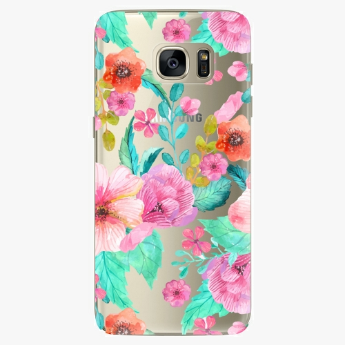 Silikonové pouzdro iSaprio - Flower Pattern 01 na mobil Samsung Galaxy S7 Edge