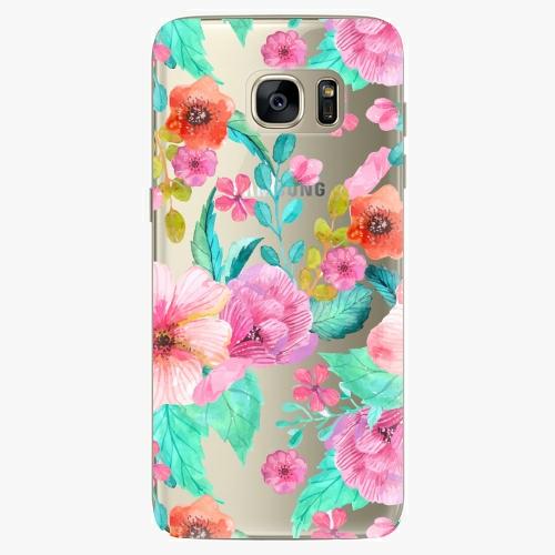 Silikonové pouzdro iSaprio - Flower Pattern 01 na mobil Samsung Galaxy S7