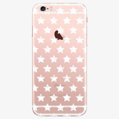 Silikonové pouzdro iSaprio - Stars Pattern white na mobil Apple iPhone 7