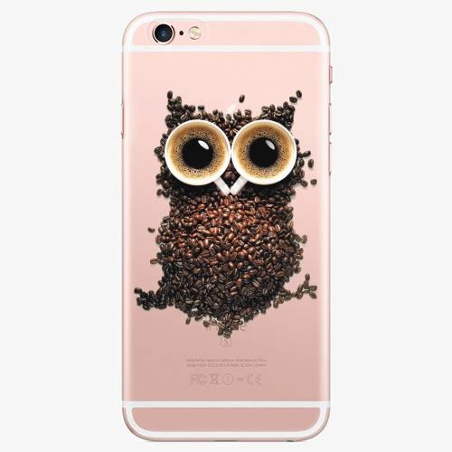 Silikonové pouzdro iSaprio - Owl And Coffee na mobil Apple iPhone 7 Plus