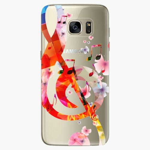 Silikonové pouzdro iSaprio - Music 01 na mobil Samsung Galaxy S7 Edge