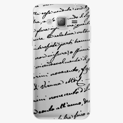 Silikonové pouzdro iSaprio - Handwiting 01 black na mobil Samsung Galaxy J3 2016