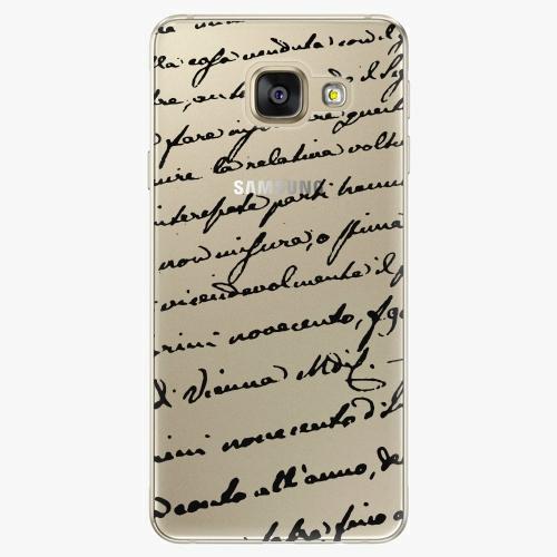 Silikonové pouzdro iSaprio - Handwiting 01 black na mobil Samsung Galaxy A5 2016