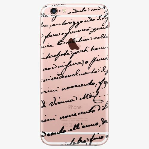 Silikonové pouzdro iSaprio - Handwiting 01 black na mobil Apple iPhone 7 Plus