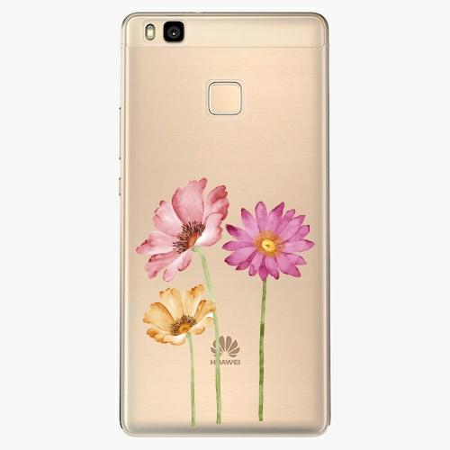 Silikonové pouzdro iSaprio - Three Flowers na mobil Huawei P9 Lite