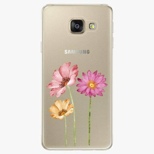 Silikonové pouzdro iSaprio - Three Flowers na mobil Samsung Galaxy A5 2016