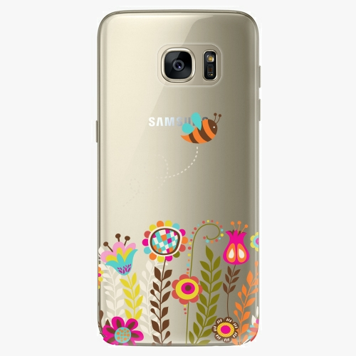 Silikonové pouzdro iSaprio - Bee 01 na mobil Samsung Galaxy S7 Edge (Silikonový obal, pouzdro, kryt iSaprio s motivem Bee 01 na mobilní telefon Samsung Galaxy S7 Edge)