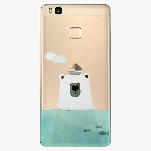 Silikonové pouzdro iSaprio - Bear With Boat na mobil Huawei P9 Lite