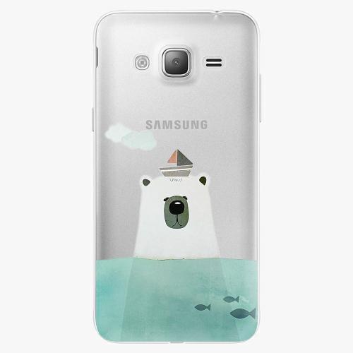 Silikonové pouzdro iSaprio - Bear With Boat na mobil Samsung Galaxy J3 2016