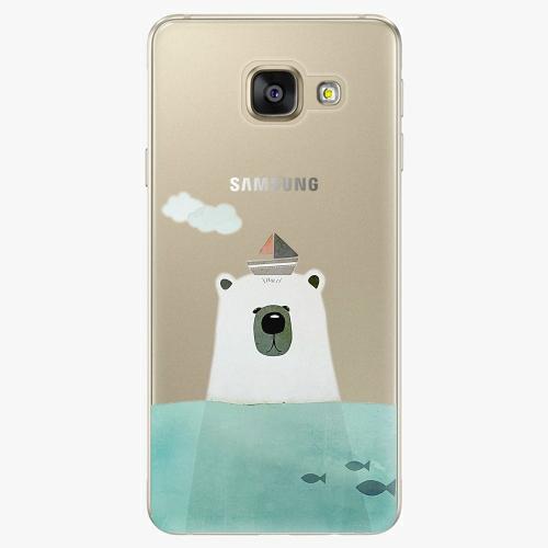 Silikonové pouzdro iSaprio - Bear With Boat na mobil Samsung Galaxy A5 2016