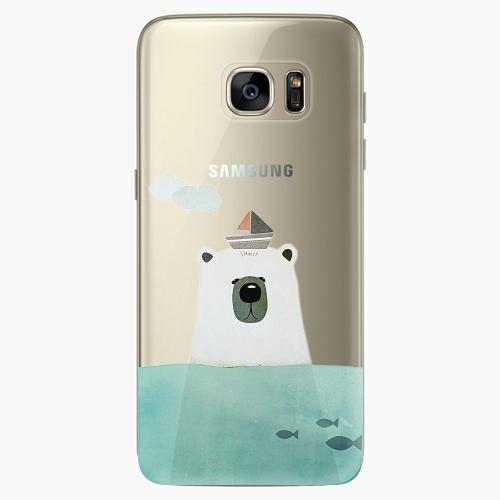 Silikonové pouzdro iSaprio - Bear With Boat na mobil Samsung Galaxy S7 Edge