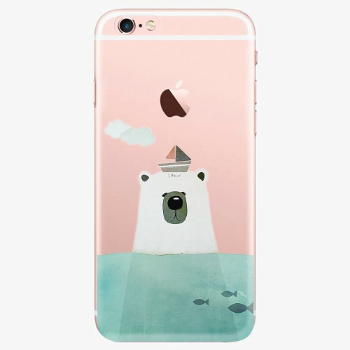 Silikonové pouzdro iSaprio - Bear With Boat na mobil Apple iPhone 7 Plus