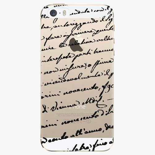 Silikonové pouzdro iSaprio - Handwiting 01 black na mobil Apple iPhone 5/ 5S/ SE