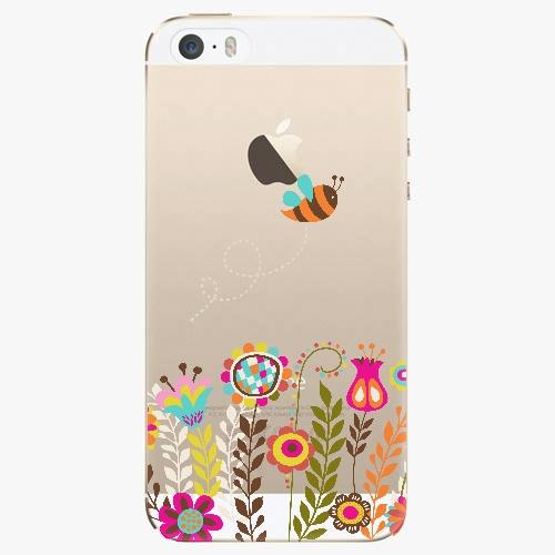 Silikonové pouzdro iSaprio - Bee 01 na mobil Apple iPhone 5/ 5S/ SE