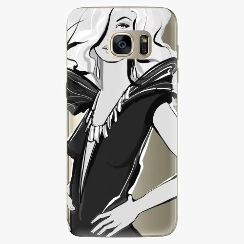 Silikonové pouzdro iSaprio - Fashion 01 na mobil Samsung Galaxy S7 Edge (Silikonový obal, pouzdro, kryt iSaprio s motivem Fashion 01 na mobilní telefon Samsung Galaxy S7 Edge)