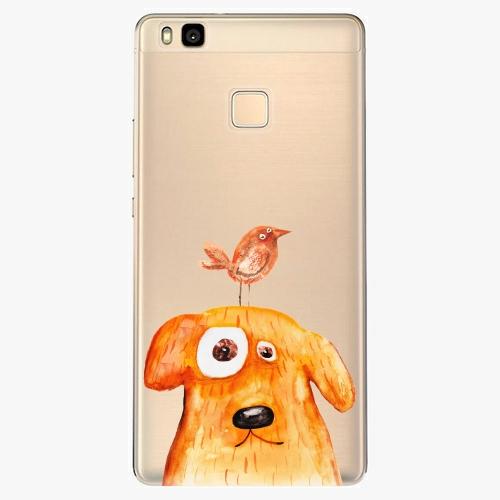 Silikonové pouzdro iSaprio - Dog And Bird na mobil Huawei P9 Lite