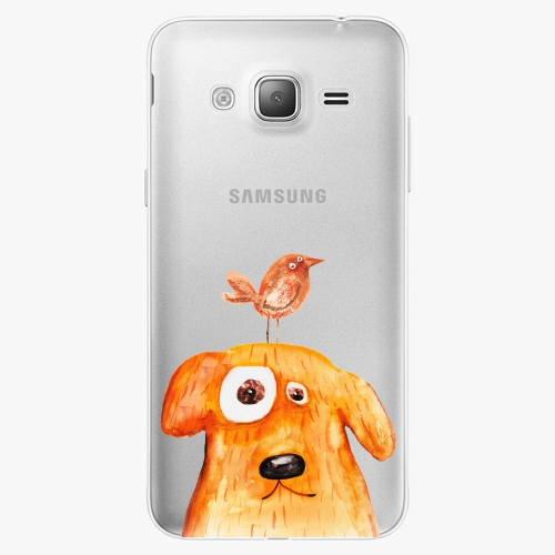Silikonové pouzdro iSaprio - Dog And Bird na mobil Samsung Galaxy J3 2016
