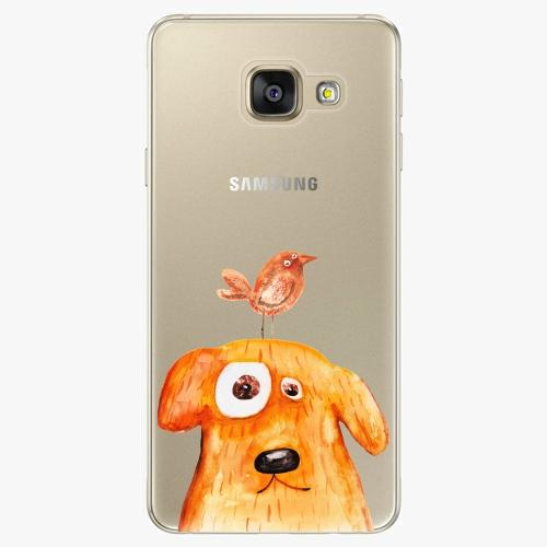 Silikonové pouzdro iSaprio - Dog And Bird na mobil Samsung Galaxy A5 2016