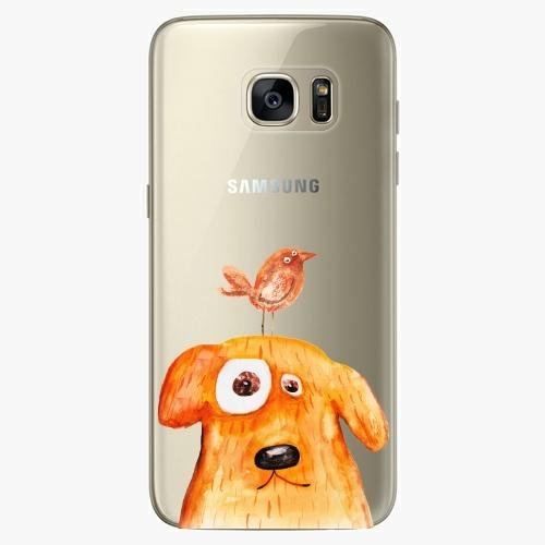 Silikonové pouzdro iSaprio - Dog And Bird na mobil Samsung Galaxy S7 Edge
