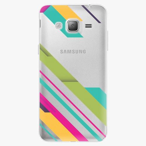 Silikonové pouzdro iSaprio - Color Stripes 03 na mobil Samsung Galaxy J3 2016