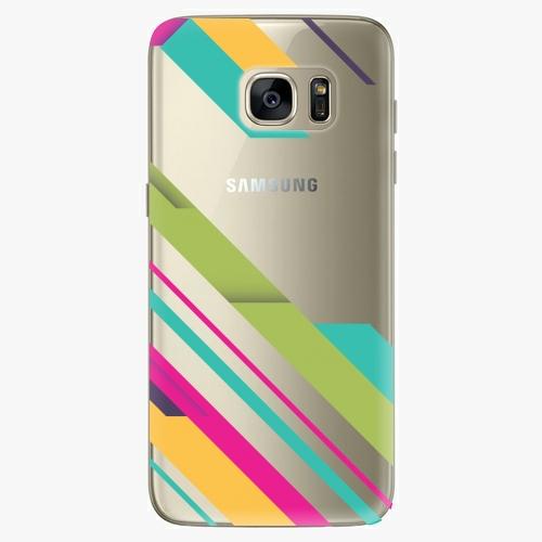 Silikonové pouzdro iSaprio - Color Stripes 03 na mobil Samsung Galaxy S7 Edge