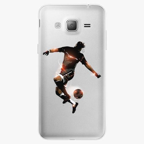 Silikonové pouzdro iSaprio - Fotball 01 na mobil Samsung Galaxy J3 2016
