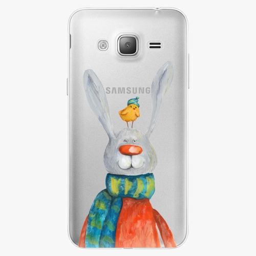Silikonové pouzdro iSaprio - Rabbit And Bird na mobil Samsung Galaxy J3 2016