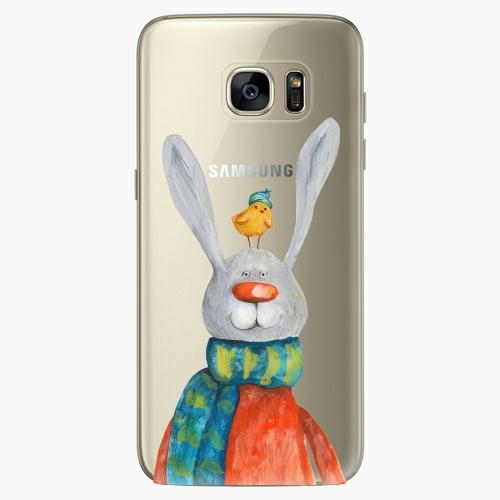 Silikonové pouzdro iSaprio - Rabbit And Bird na mobil Samsung Galaxy S7 Edge