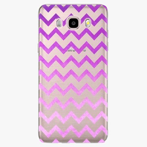 Silikonové pouzdro iSaprio - Zigzag purple na mobil Samsung Galaxy J5 2016