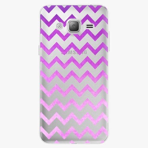 Silikonové pouzdro iSaprio - Zigzag purple na mobil Samsung Galaxy J3 2016