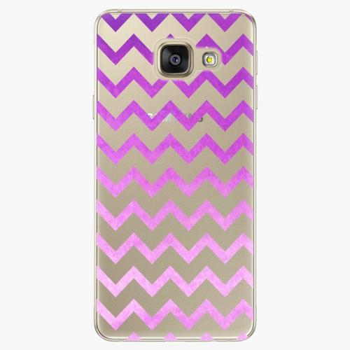 Silikonové pouzdro iSaprio - Zigzag purple na mobil Samsung Galaxy A5 2016