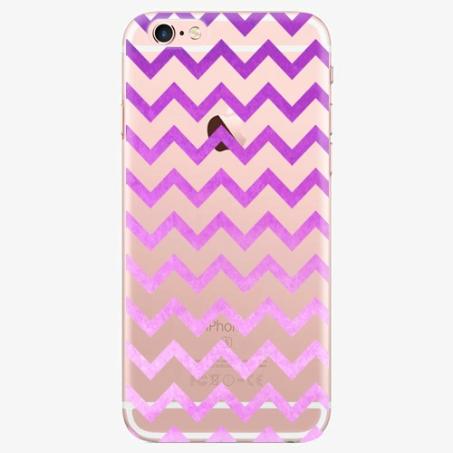Silikonové pouzdro iSaprio - Zigzag purple na mobil Apple iPhone 7 Plus